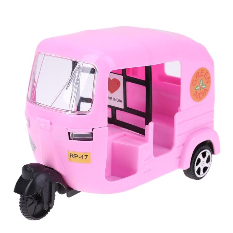 Plastic Pink Tricycle Car Toys Kids Gift for Barbie Pretend Play Dollhouse Accessories