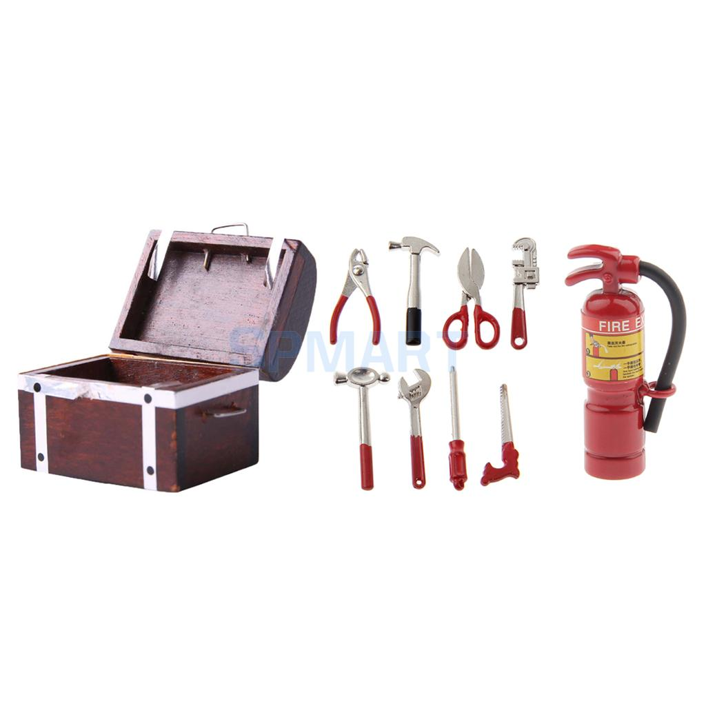 1:12 Scale Fire Extinguisher Set