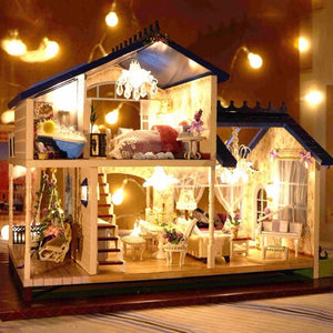 1:24 DIY Wooden Handcraft Miniature Provence Dollhouse