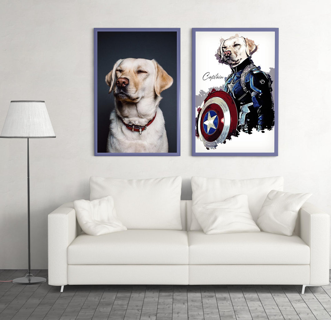 Custom Pet Superheroes Art