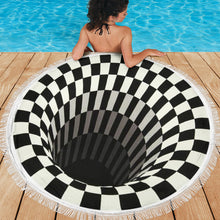 Load image into Gallery viewer, Black Hole 3D Beach Blanket