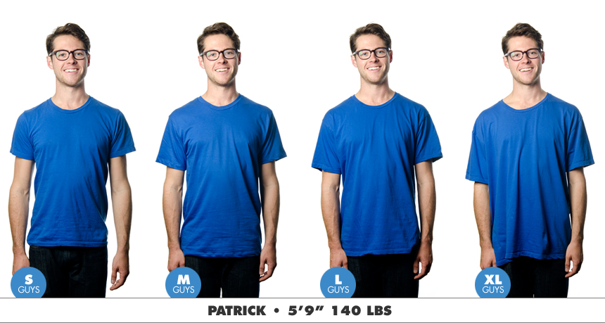 babbletees tees mens sizing chart