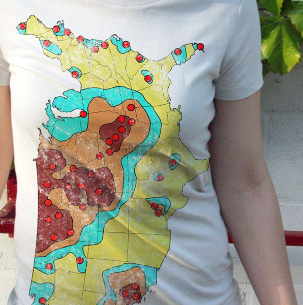 1960's Nuclear Target Map Shirt - babbletees