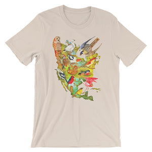 Birds of North America T-shirt Colorful Vintage Audubon Bird Illustration Graphic Tee
