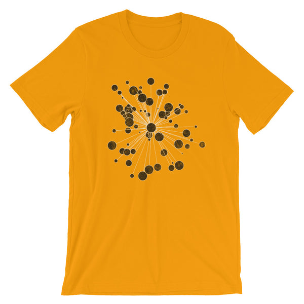 Retro Graphic Design T-shirt Distressed Bubble Burst Astronomy Graphic Tee - babbletees