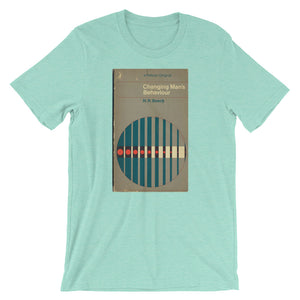 1960s Psychology Tshirt Changing Man's Behavior MidCentury Retro Book Cover Mid-Century Abstract Art Graphic Tee Short-Sleeve Unisex T-Shirt