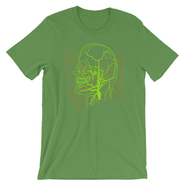 Brain Anatomy T-shirt Vintage Science Illustration of Skull Map Graphic Tee cool