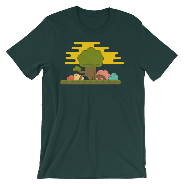 Geometric Trees Short-Sleeve Unisex T-Shirt - babbletees