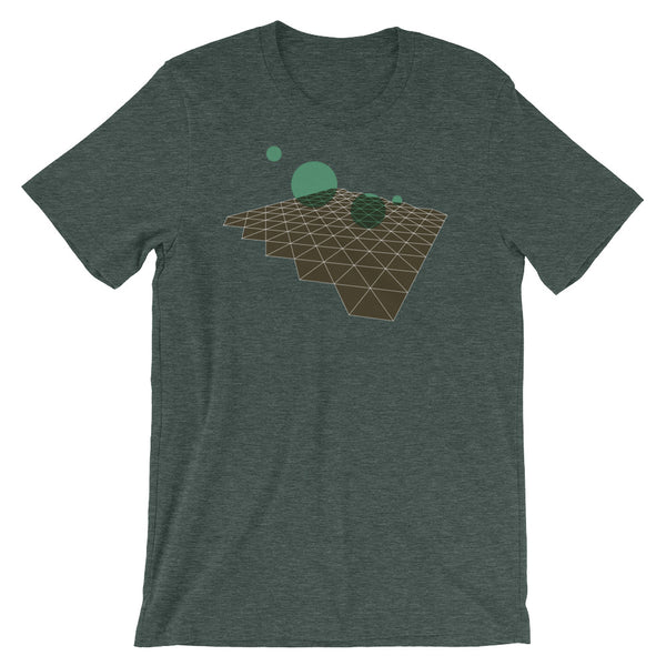 Geometric Abstract Green Brown Short-Sleeve Unisex T-Shirt