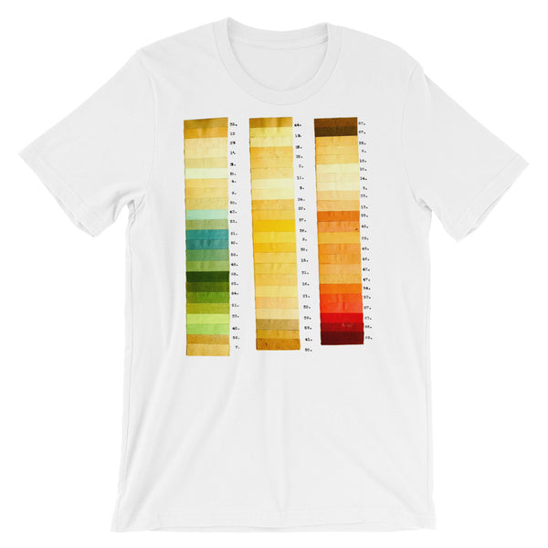 Vintage Color Thesis Swatches T-shirt Artistic Graphic Tee Artist Gift - babbletees