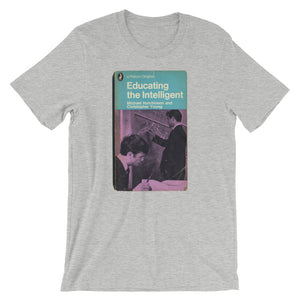 Educating the Intelligent Science Geek T-shirt Retro 1960 Book Cover Graphic Tee Short-Sleeve Unisex T-Shirt