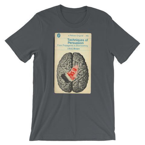 Brain T-shirt Vintage Science Geek Graphic Tee Retro Book Cover Graphic Tee - babbletees