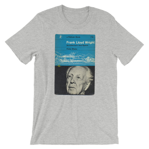 Frank Lloyd Wright T-shirt Architecture and Space Retro midcentury Book Cover Graphic Art Short-Sleeve Unisex T-Shirt