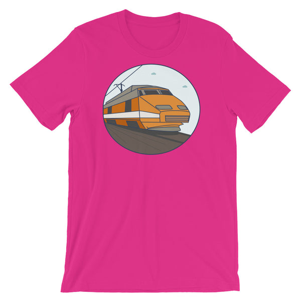 TGV French Train Graphic Tee Ahh, how I love France's TGV Train - trés cheeky cool graphic tee shirt Short-Sleeve Unisex T-Shirt - babbletees
