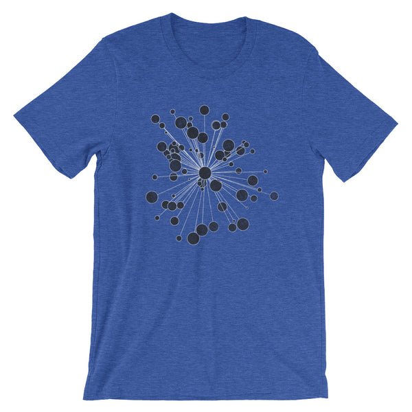 Retro Graphic Design T-shirt Distressed Bubble Burst Astronomy Graphic Tee