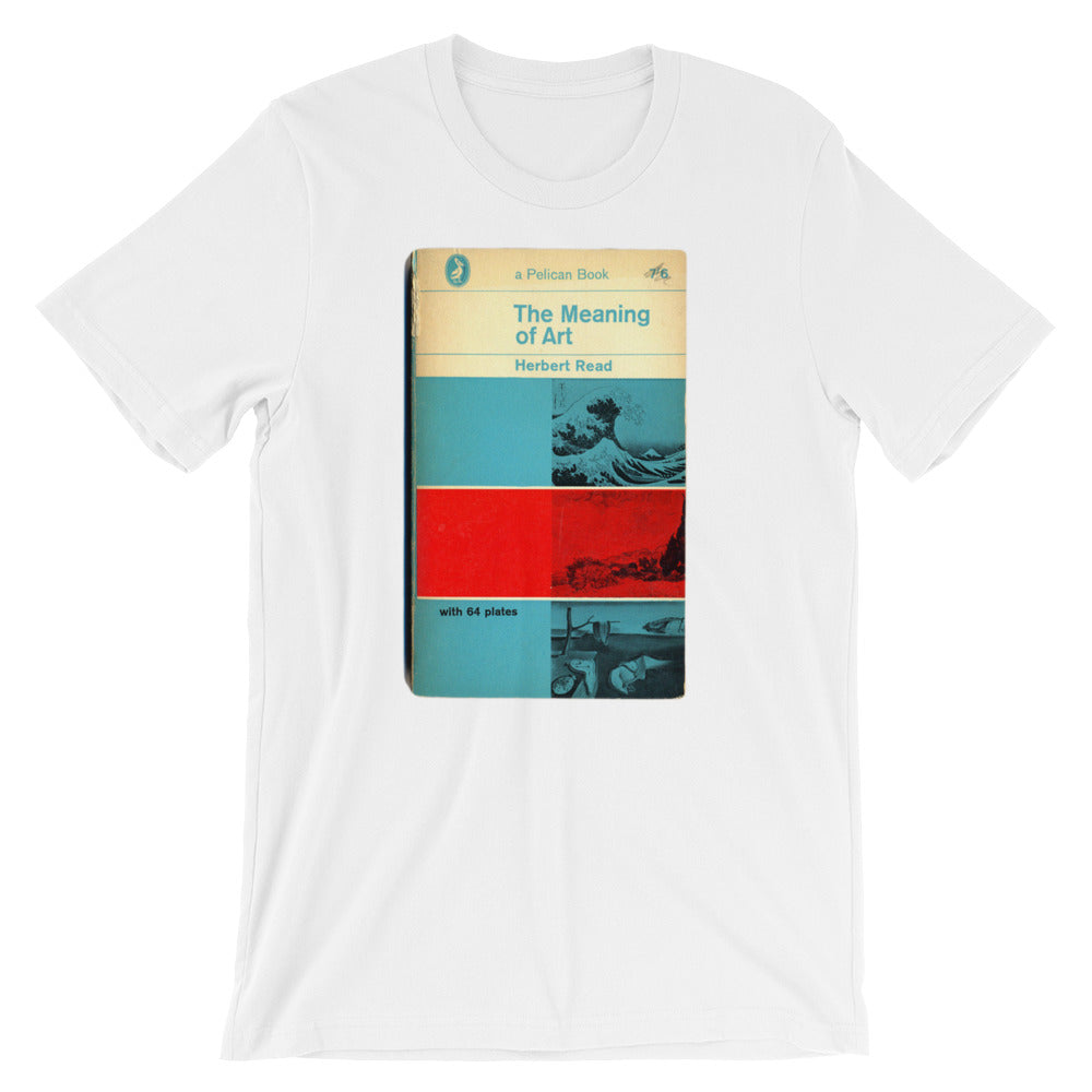 The Meaning of Art T-shirt Mid Century Graphic Design Tee 1960s Modern Art Book Cover Short-Sleeve Unisex T-Shirt - babbletees