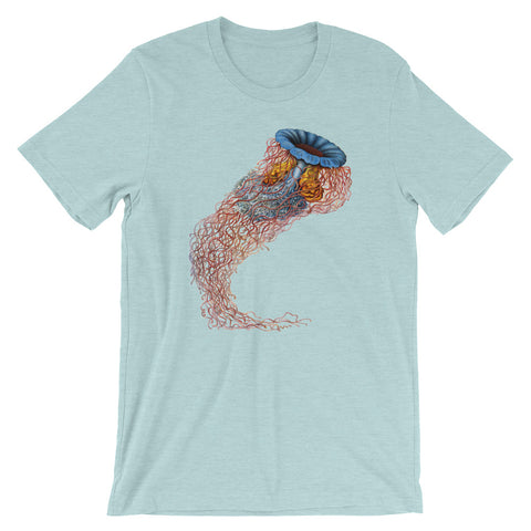 Jellyfish T-shirt Vintage Animal Graphic Design Tee blue babbletees