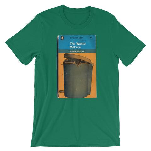 The Waste Makers T-shirt Midcentury Retro Book Cover Post Modern Graphic Art Short-Sleeve Unisex T-Shirt - babbletees