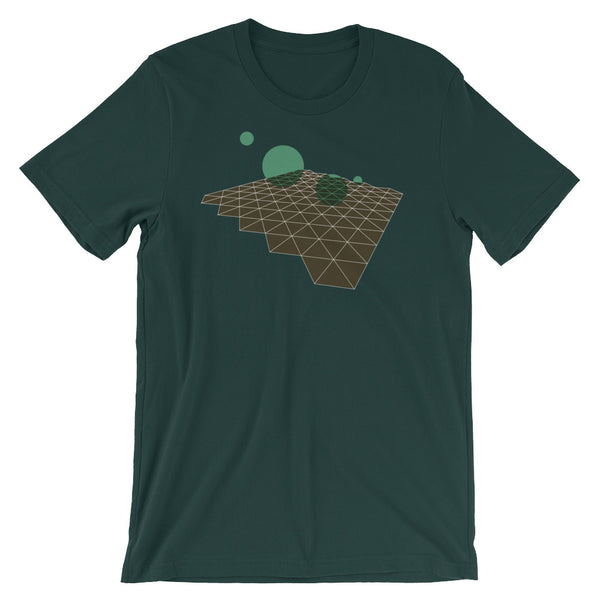 Geometric Abstract Green Brown Short-Sleeve Unisex T-Shirt - babbletees