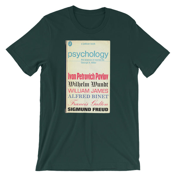 Psychology Tshirt Sigmund Freud Book Cover Graphic Midcentury Design Tee Short-Sleeve Unisex T-Shirt - babbletees