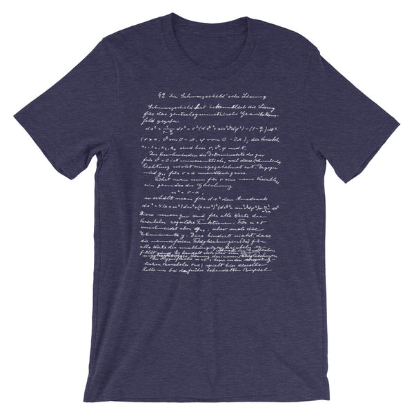 Einstein T-shirt Vintage Theory of Relativity Albert Einstein's Handwriting Tee Shirt Unisex - babbletees