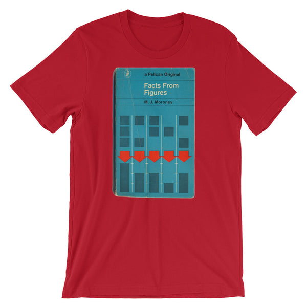 Facts and Figures Math Geek T-shirt Retro Accounting Book Cover Graphic Tee Short-Sleeve Unisex T-Shirt - babbletees