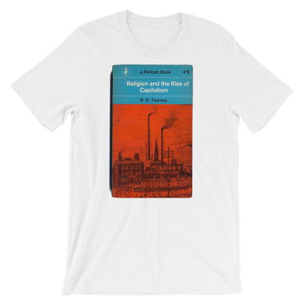 Capitalism T-shirt Religion and the Rise of Capitalism Retro Book Cover Mid-Century Graphic Design Smokestacks T-Shirt - babbletees