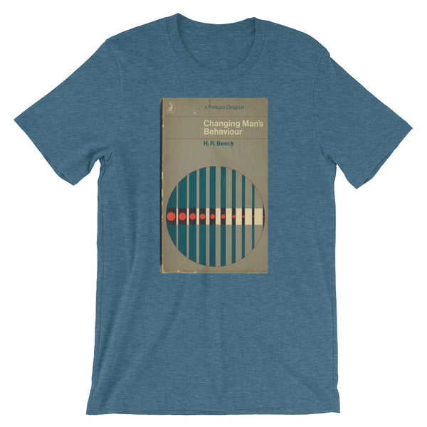 1960s Psychology Tshirt Changing Man's Behavior MidCentury Retro Book Cover Mid-Century Abstract Art Graphic Tee Short-Sleeve Unisex T-Shirt - babbletees