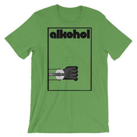 Alkohol T-shirt Retro Bauhaus German Alcohol Graphic Tee green