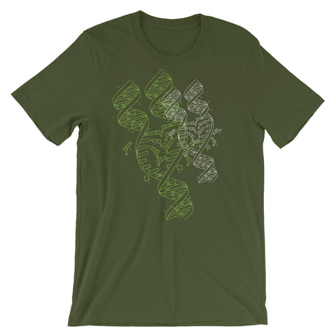 DNA Graphic T-shirt Cool Abstract Science Art Tee green babbletees