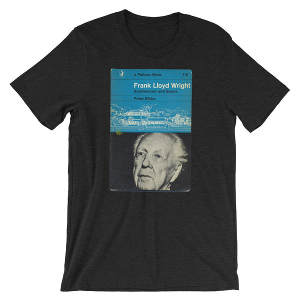 Frank Lloyd Wright T-shirt Architecture and Space Retro midcentury Book Cover Graphic Art Short-Sleeve Unisex T-Shirt - babbletees
