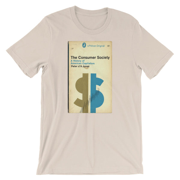 Mid Century Graphic Design Tshirt The Consumer Society Vintage Science Penguin Book Cover artwork Short-Sleeve Unisex T-Shirt