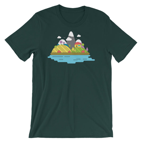 Rolling Hills Infographic Graphic Design Short-Sleeve Unisex T-Shirt - babbletees