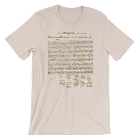 Declaration of Independence T-shirt Cool American History Text tee - babbletees