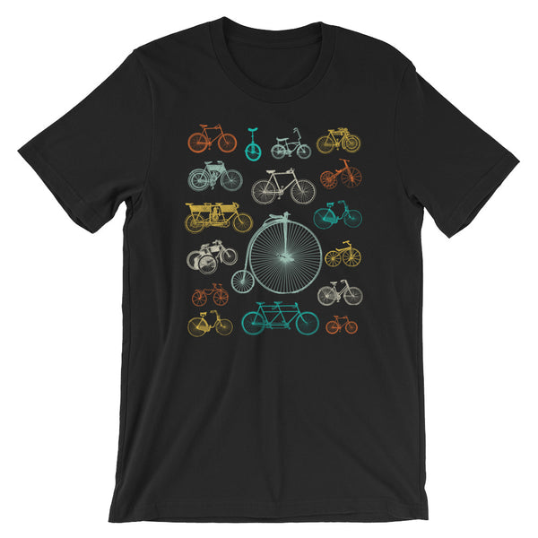 Bicycle Collage T-shirt of Vintage Bikes Graphic Tee - babbletees