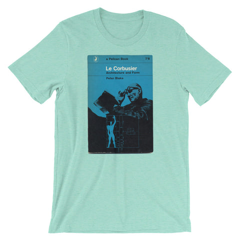 Le Corbusier T-shirt Swiss Architect Book Cover Tee Short-Sleeve Unisex T-Shirt - babbletees