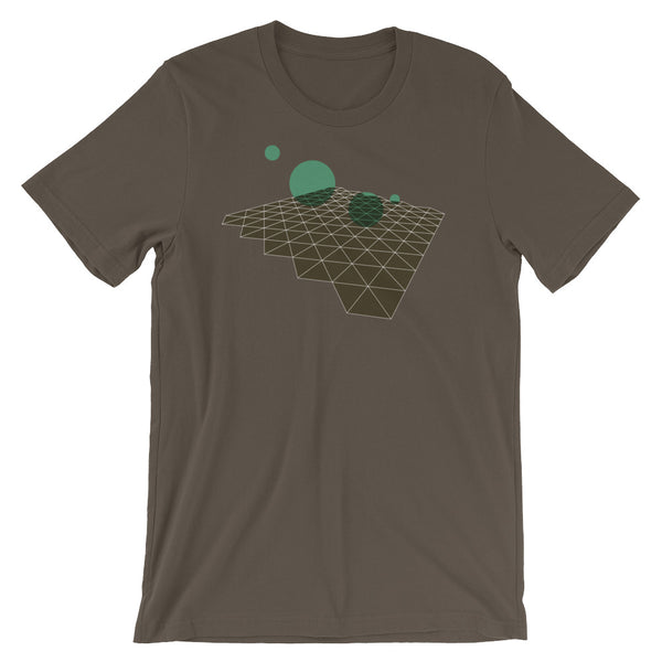 Geometric Abstract Green Brown Short-Sleeve Unisex T-Shirt babbletees