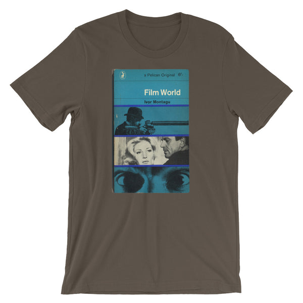 1960s Vintage T-shirt Film World Midcentury Art Vintage Penquin Book Cover Graphic Design Tee Short-Sleeve Unisex T-Shirt