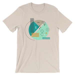 Abstract Art Tee Shirt Geometric Graphic Design T-shirt - babbletees