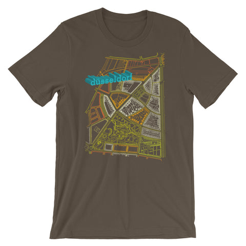 Düsseldorf German Map Tshirt Retro City Graphic Tee babbletees