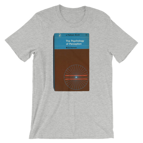 The Perception of Psychology Tshirt Vintage Penguin Book Cover Graphic Print Short-Sleeve Unisex T-Shirt - babbletees