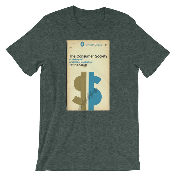 Mid Century Graphic Design Tshirt The Consumer Society Vintage Science Penguin Book Cover artwork Short-Sleeve Unisex T-Shirt - babbletees