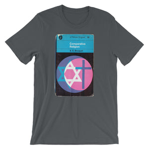 Religion T-shirt Vintage 1960s Book Cover Graphic Design Unique Religious Print Tee Short-Sleeve Unisex T-Shirt - babbletees