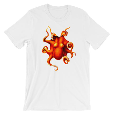 Vintage Octopus T-shirt Retro Animal Science Graphic Tee white babbletees