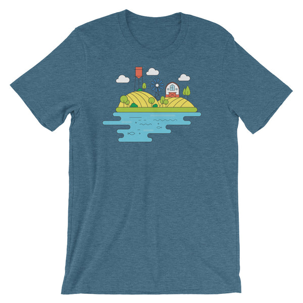 Farming Infographic Farm Graphic Tee Shirt Short-Sleeve Unisex T-Shirt - babbletees