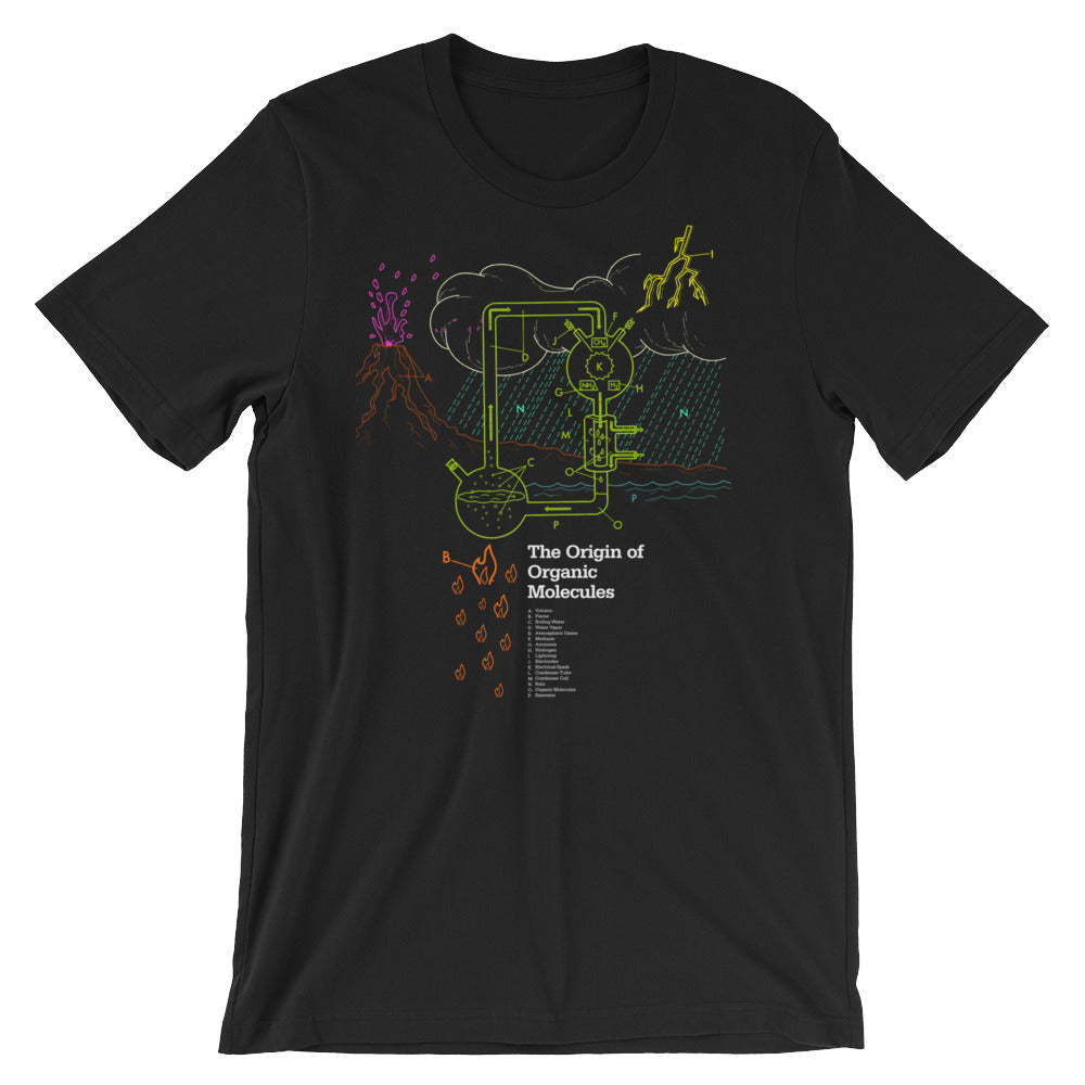 Organic Molecule T-shirt Chemistry Science Geek Graphic Teeshirt black babbletees