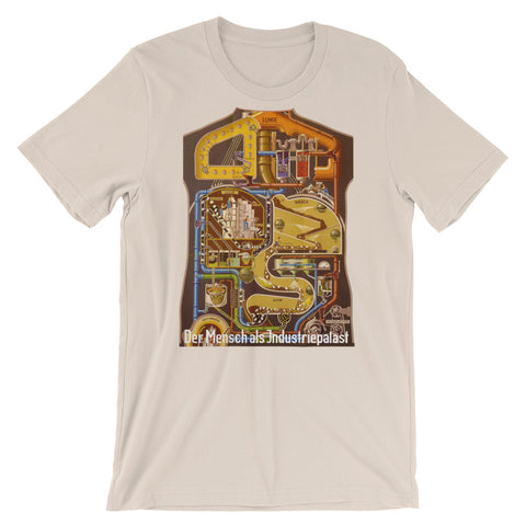 German Anatomy T-shirt Vintage Graphic Organs as Machine Tee Der Mensch als industriepalast