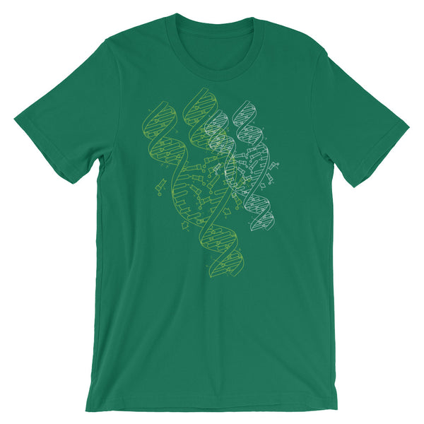 DNA Graphic T-shirt Cool Abstract Science Art Tee - babbletees