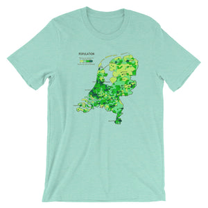 Dutch Map T-shirt Creative Vintage Graphic Design Tee mint green babbletees