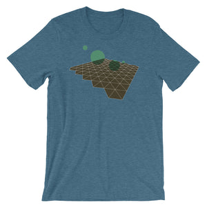 Geometric Abstract Green Brown Short-Sleeve Unisex T-Shirt blue babbletees